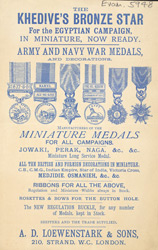 Advert for miniature medals